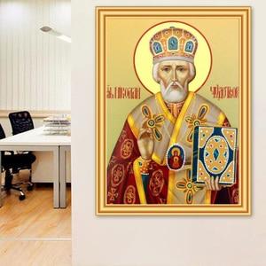 5D DIY Набор алмазных картин, религиозная икона, набор крестиков, полностью квадратная Алмазная мозаика, стразы, Декор, подарок, алмазная вышив...