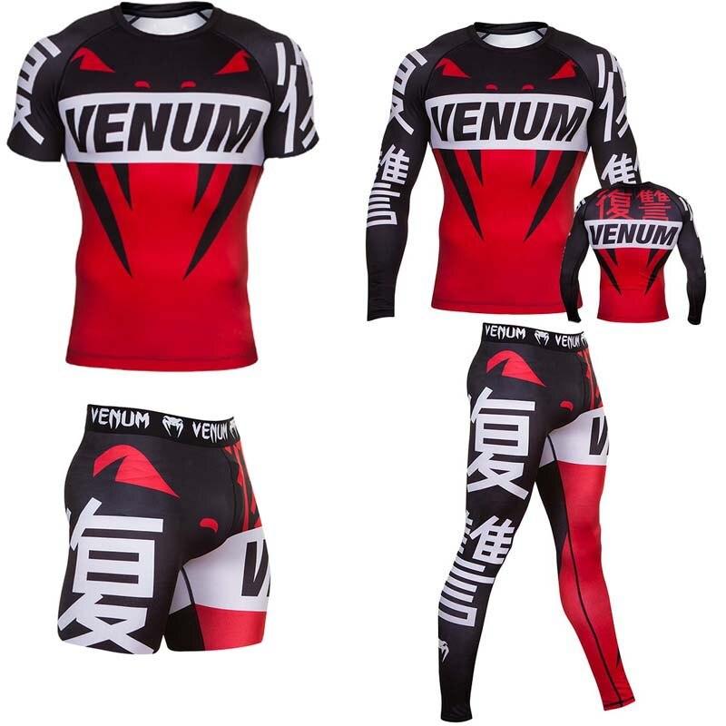 Boxing Jersey T Shirt Men MMA Rashguard Jiu Jitsu Bjj T-Shirt Compression Shirt Quick Dry Gym Running Training Sports Tops Male