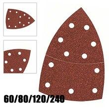 10Pcs Schuren Vel Schuurpapier Voor Bosch Psm 100A Detail Palm Sander 240 Grit Nat Droog Schurende Gereedschap Schuren Zand papier Deel