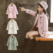 Girls Solid Color Windbreaker Spring Autumn Baby Kids Coat children Outwear Girl Coats Jacket Clothing Cardigan