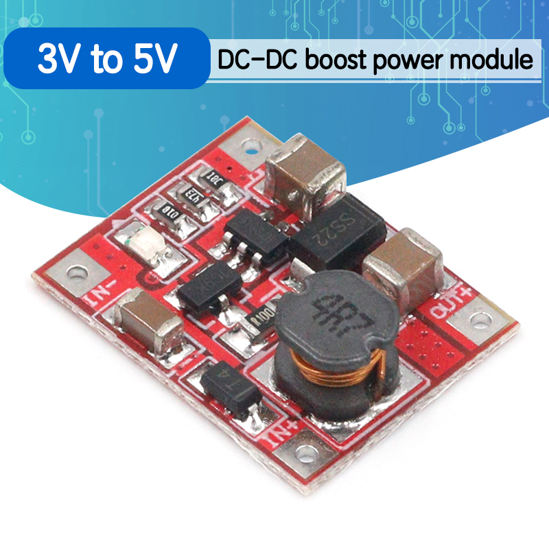 DC-DC Boost Power Supply Module Converter Booster Step Up Circuit Board 3V to 5V 1A Highest Efficiency 96%