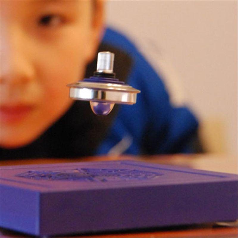 Crianças magnético girando superior levitação gyro mágico giroscópio suspenso ufo flutuante levitando brinquedo clássico