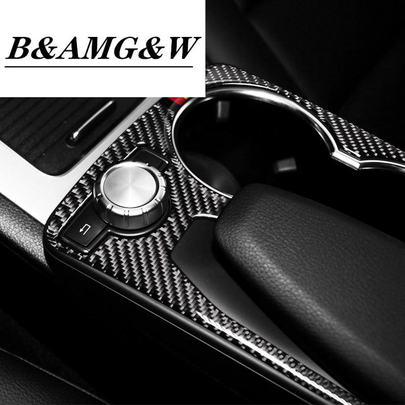 Carbon fiber Water cup holder panel decorative box Trim For Audi Q3 2015-2018