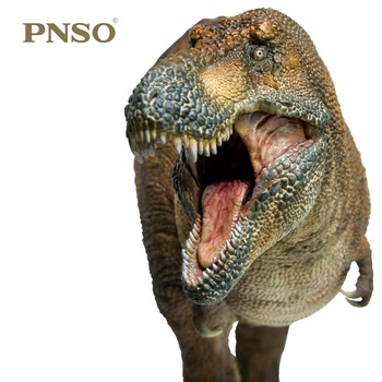 1:35 PNSO Dinosaurs Museum Wilson Tyrannosaurus Rex with Transparent Support Prehistoric Animals Toy Collection Doll