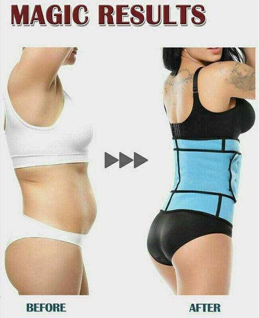 Women Sauna Thermo Shaper Sweat Waist Trainer Belt Slimming Vest Corset Black 3