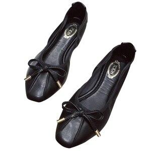 Image 2 - Giày Nữ Sapato Feminino2019 Giày Oxford Nữ Nữ Flat Giày Sang Trọng Nữ Nhà Thiết Kế Cho Nữ Ballerine Femme