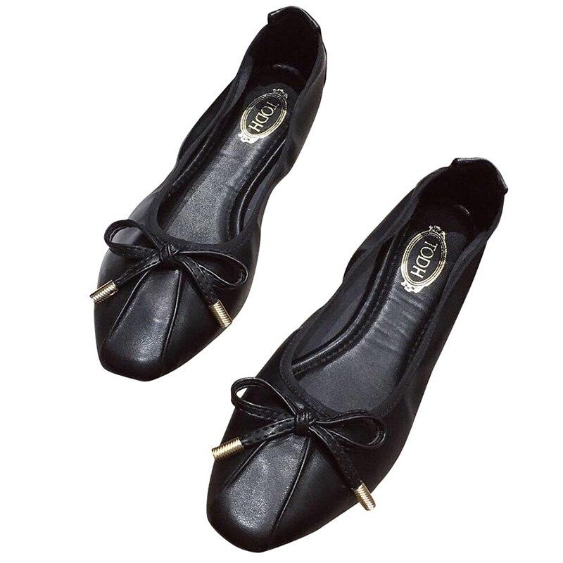 Image 2 - Женская обувь; Sapato Feminino2019; Женские туфли оксфорды; Женская обувь на плоской подошве; Роскошная дизайнерская обувь для женщин; Женские дизайнерские лоферы; Ballerine FemmeОбувь без каблука   -