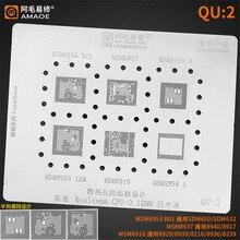 0.12MM Amaoe QU2 BGA Reball pochoir de haute qualité pour MSM8953 MSM8937 MSM8998 MSM8916 modèle de chauffage Direct