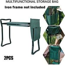 2 Pcs Tool Side Bag Pockets Pouch for Garden Bench Garden Kneeler Stools Gardening LAD3