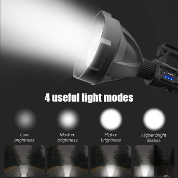 LED Flashlight Portable XHP70.2 Torch Olight USB Charger Searchlight Waterproof Tactical Headlight Long Distance Wide Use Lamp