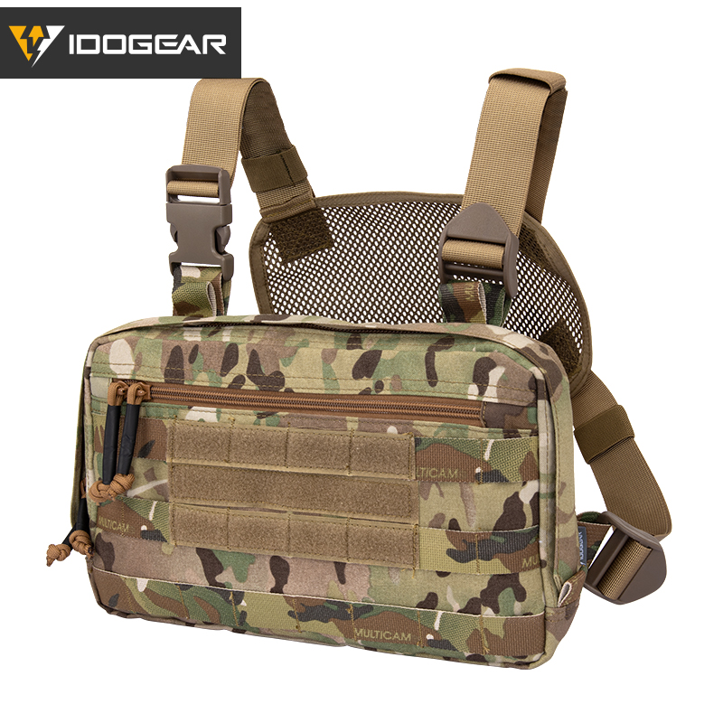 IDOGEAR Tatcical Bag Chest Recon Bag Chest Rig MOLLE Shoulder Bag Multi-Purpose Military Combat EDC Pouch 3537(China)