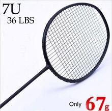 Badminton Racket Professionele Carbon Badminton Racquet gratis Grips Strung 6U 72g ,7U 62g