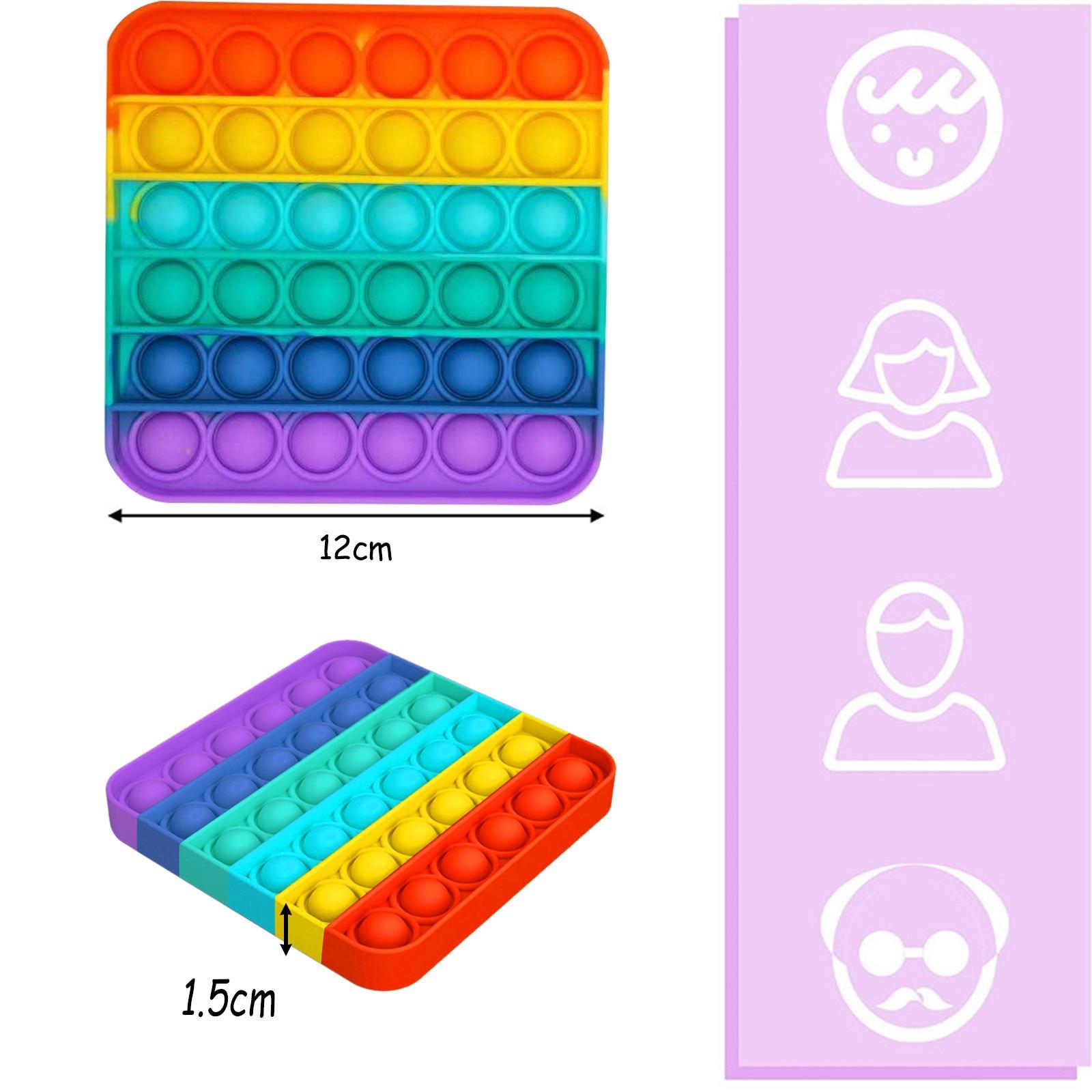 Fitget-Toys Sensory-Toy Autism Fidget Needs-Stress Pop-It-Game Push Bubble Reliever Popoit img3