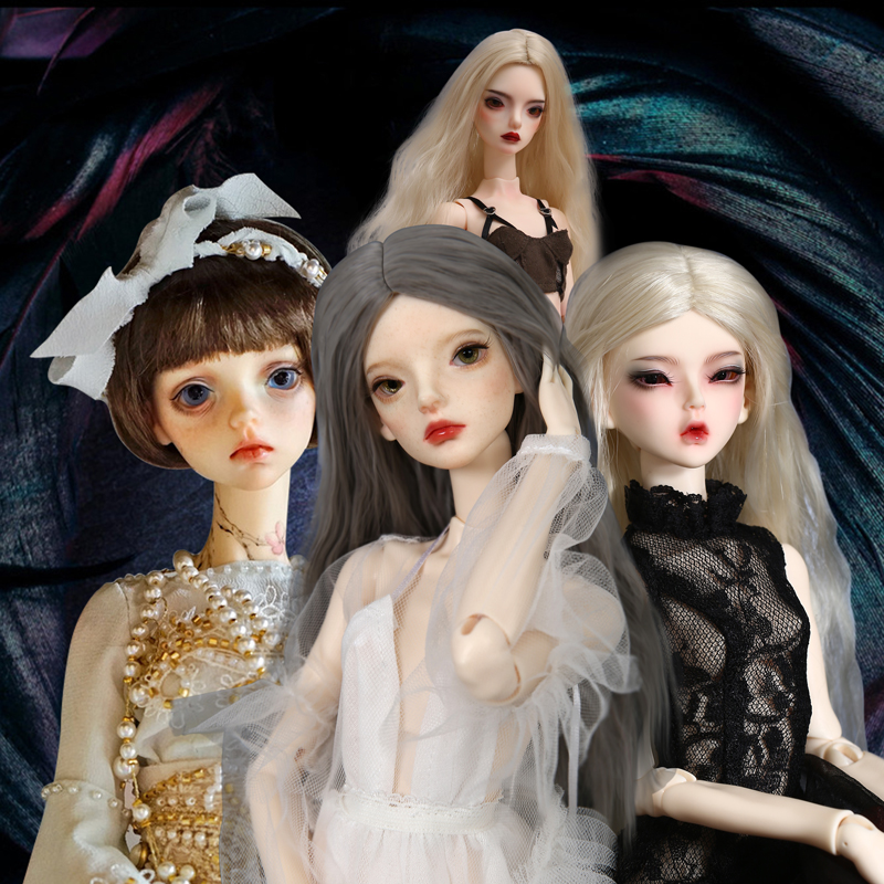 1//4 bjd doll ball jointed dolls 42cm tall big eyes girl resin with face make up