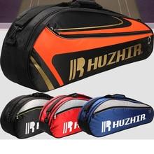 Double Zipper Large Capacity Sports Squash Racket Bag Single Shouder Training Tennis Badminton Shoes Storage 1-3 Backpack