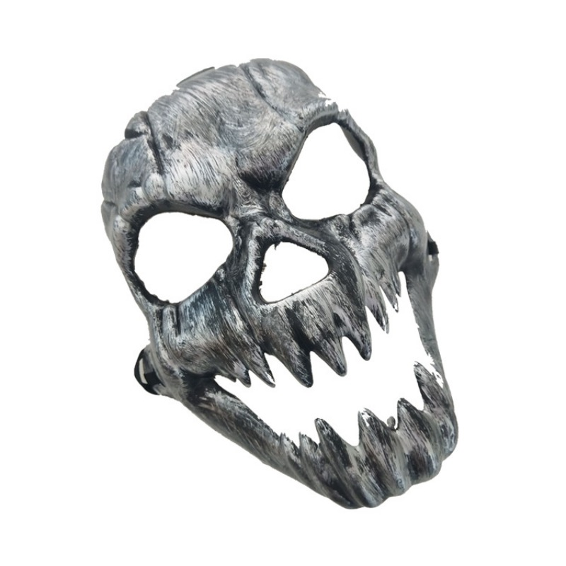 Halloween Metal Plastic Skull Mask Gold Silver High Quality Full Face Skull Mask Party Supplies Horror Props - 3