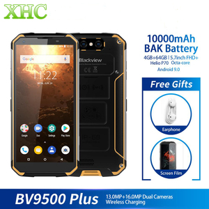 Image 2 - IP68 עמיד למים Blackview BV9500 בתוספת Helio P70 אוקטה Core Smartphone 10000mAh 5.7 אינץ FHD 4GB 64GB אנדרואיד ה SIM הכפול טלפון נייד