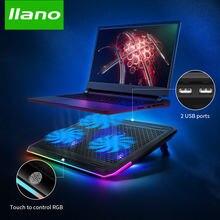 Llano кулер для ноутбука игровая охлаждающая подставка с тремя