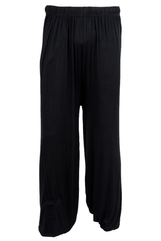 Yoga Pants Loose Modal Bloomers Pants Home Tai Chi Harem Joggers Sweat Pants Both Men And Women-Black,XXL