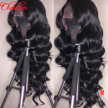 Brazilian Loose Wave 13x6/13x4 Lace Front Human Hair Wigs Choshim Remy Hair wig With Baby Hair Around 150% Density Natural Color
