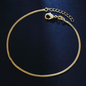 Women Anklets Bracelet Snake-Chain Wholesale Jewelry Link Trendy Silvery/gold-Color Blade