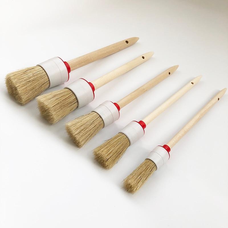 Купить щетка с деревянной ручкой для детейлинга автомобиля щетка салона