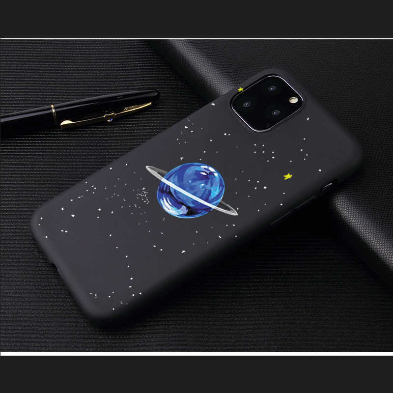 ブルーアースプリント宇宙遊泳電話ケース iphone 6 5 5S 、 SE 6S 7 8 プラスケースのための iPhone X XS 11Pro 最大 XR カバーソフトケース