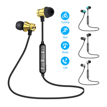 Magnetic Wireless Bluetooth Sport In-ear Earphones Stereo Earbuds Headset With Mic Noise Cancel For