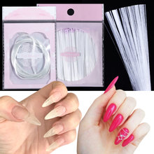 110pcs Fiberglass Nails Extension for UV Gel Building Extend Thread Scraper Silk Fiber Sticker Manicure Forms Accessory LA1578(China)