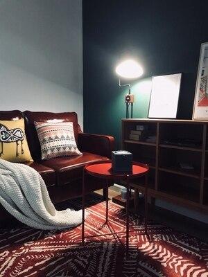 Tapis de fleur nordique pour le salon grands petits tapis mous rouges/chambre à coucher tapis Floral rose tapis de sol Table basse sont tapis - 5