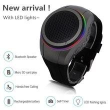 10 Hours Wireless Speaker Portable Wearable Watch Bluetooth Speaker Mini hifi Subwoofer soundbar woofer loudspeaker for xiaomi