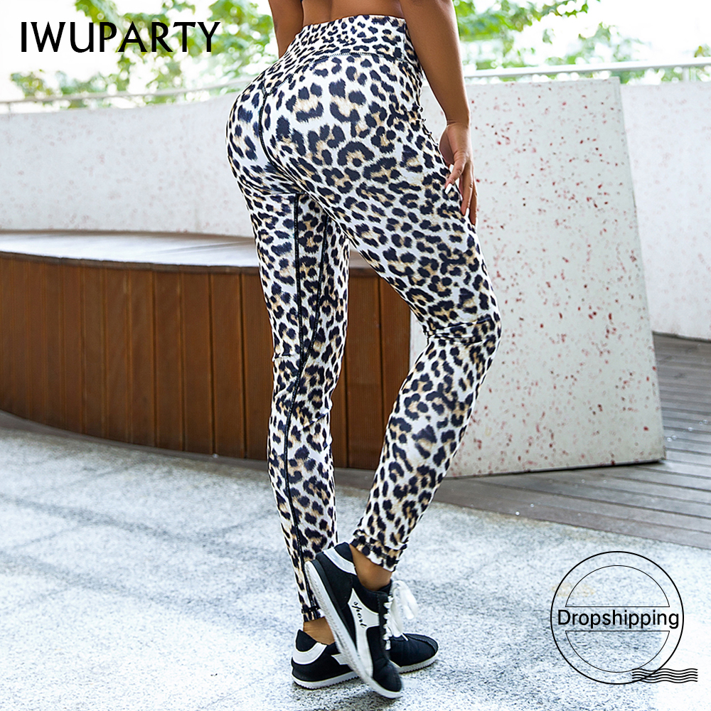 Sexy Leopard Printing Leggings Women High Waist Compression Leggins Push Up Gym Fitness Pants Fashion Femme Workout Sportswear