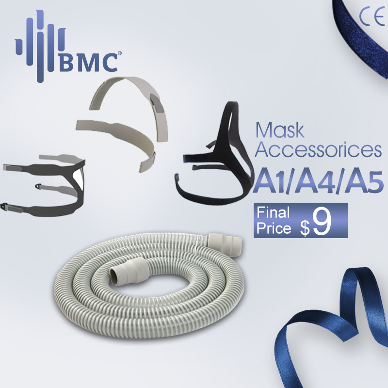 BMC CPAP Hose Tubing Headgear For CPAP/Auto CPAP/BiPAP Masks High Quality Sleep Respiratory For Sleep Snoring Airway Health Care