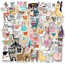 50 adet Llama alpaka sevimli etiket Kawaii karikatür deve koyun çocuklar için hayvan çıkartmaları ödül çıkartmaları Scrapbooking bisiklet araba çıkartması