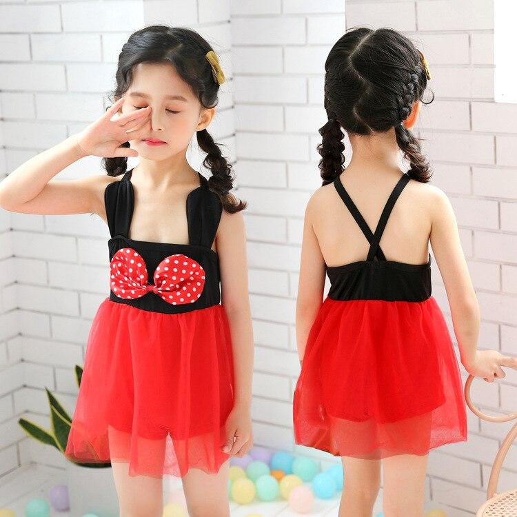 2019 New Style KID'S Swimwear Dress-Small CHILDREN'S GIRL'S Princess Cute Baby Hot Springs Swimwear Manufacturers Wholesale
