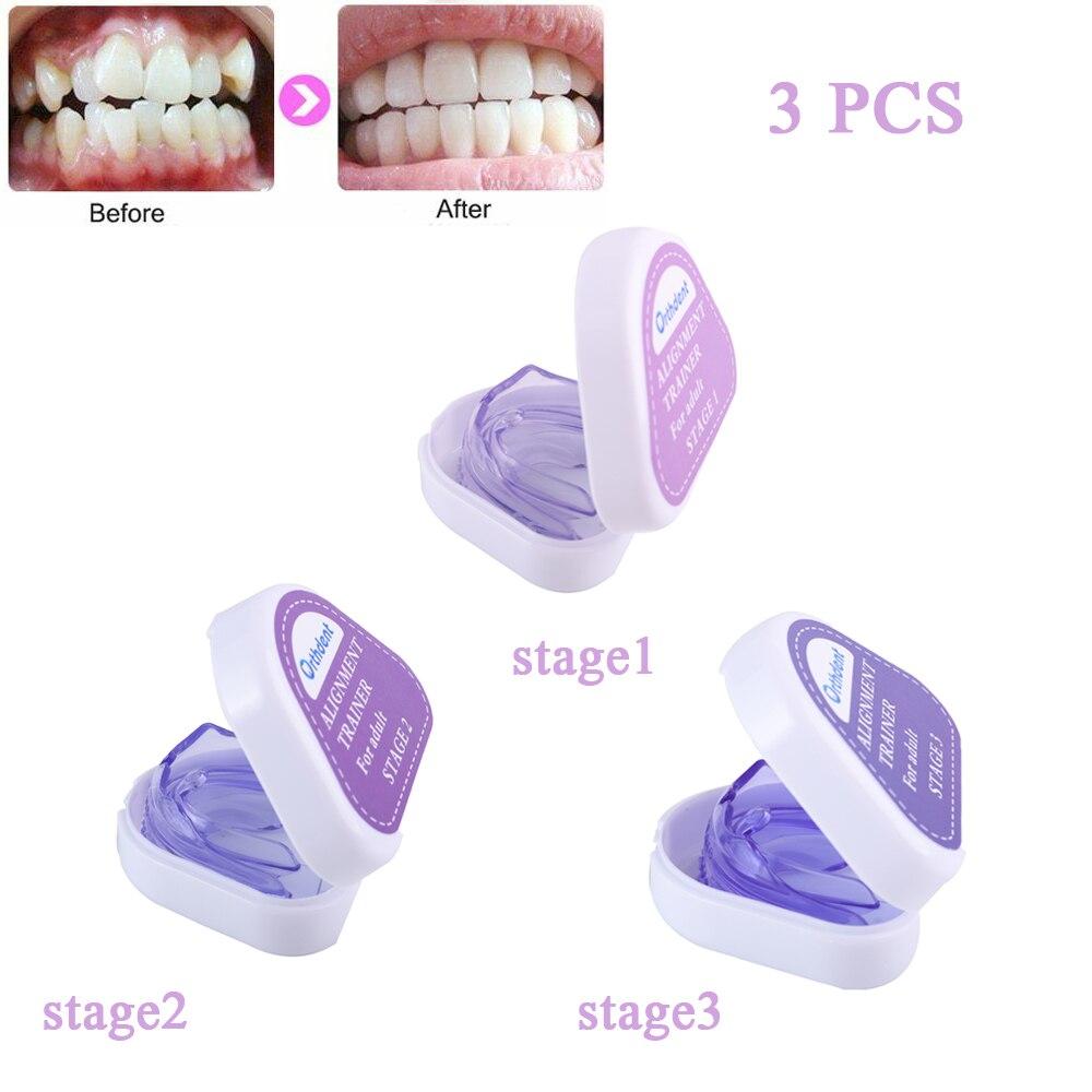 3 шт./компл. зубной тренажер брекеты Стоматологические Ортодонтические фиксаторы устройства для мундштуков уход за зубами