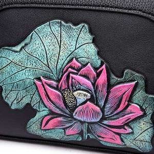 Image 5 - Peacock torebki damskie ze skóry naturalnej torebka damska torba na ramię dla matki w stylu chińskim torebka Crossbody dla kobiet 2018 Sac A Main