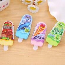 4 Uds verano helado borrador conjunto Mini helado gomas de borrar lápiz coreano regalo de papelería para niños la escuela A6389