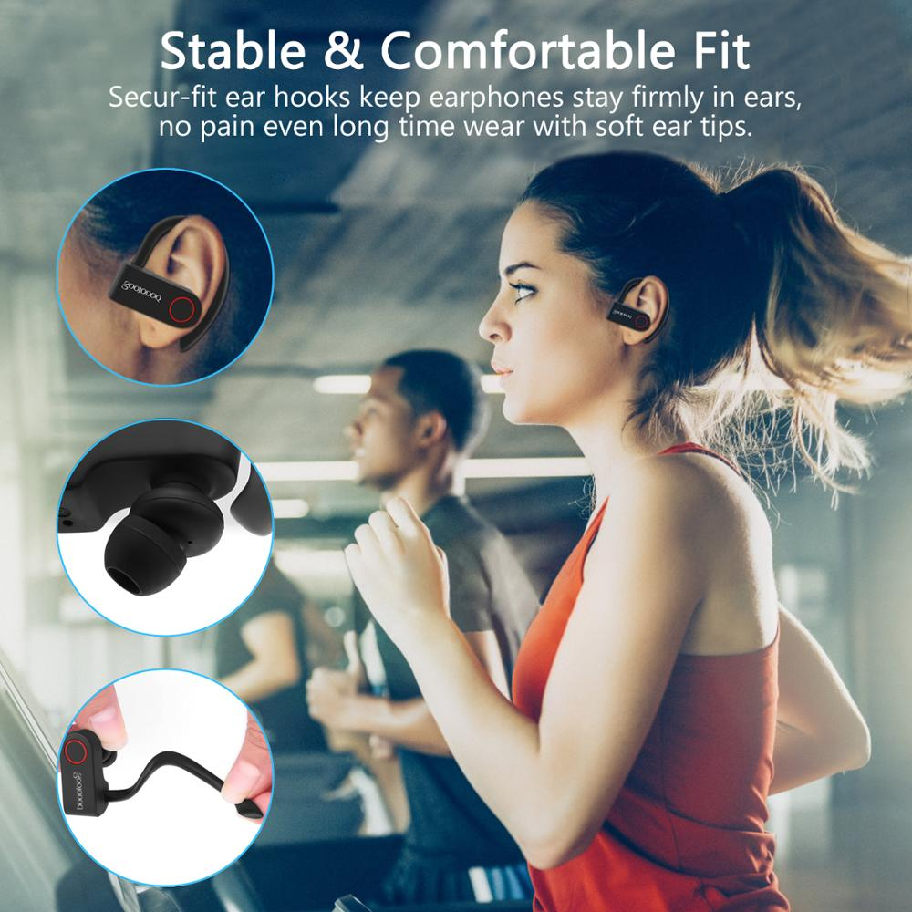 Image 2 - GOOJODOQ True Wireless Earbuds TWS Bluetooth Earphone 5.0 with  Charger Box Sports Earhook Bluetooth Headphone for iphone xiaomiPhone  Earphones