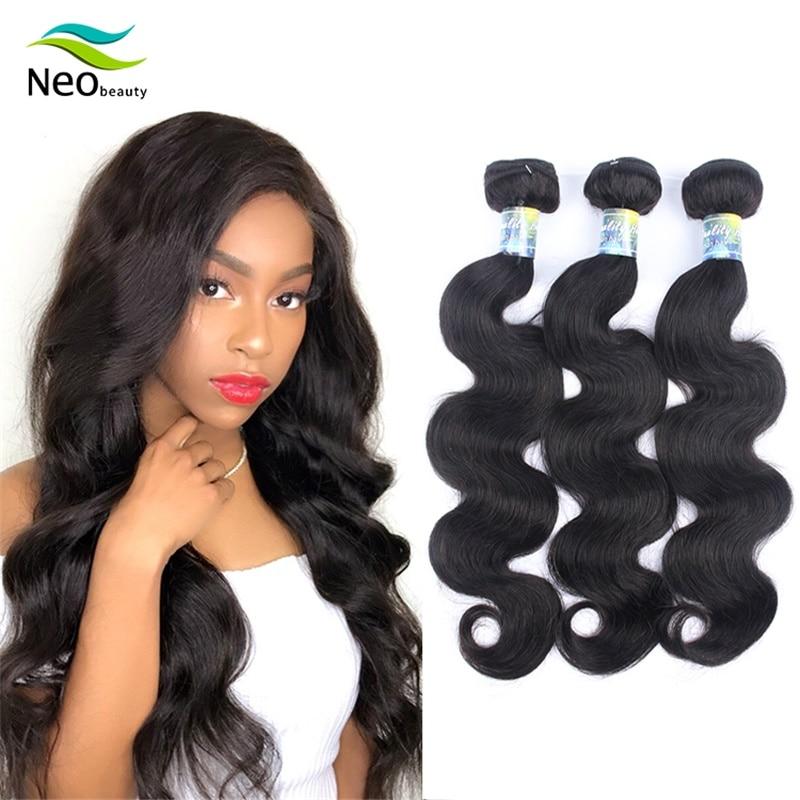 9A Neobeauty Body Wave Malaysian Hair Weave Bundles 100% Remy Human Hair Bundle 4 Bundle Remy Hair Extension 32 34 36 38 40 Inch