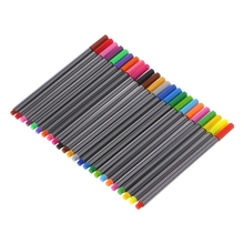 T8DB 0.4mm 24 Colors Fineliner Needle Tip Marker Water Based Ink Pen Art Painting Set