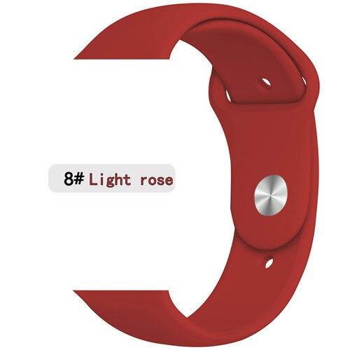 Ремешок для apple watch band 44 мм/40 мм iwatch band 5 4 42 мм 38 мм correa pulseira watch band для apple watch 5 4 3 браслет 44 мм - Цвет ремешка: light rose red 8