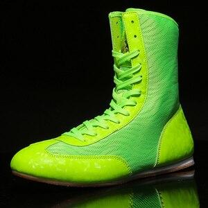 Zapatos de boxeo para hombre y mujer, botas de lucha para jóvenes, antideslizantes, Unisex, gran oferta