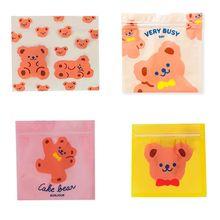 100pcs Plastic Protection Bag Cartoon Sealing Ziplock Bag Packaging