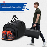 TIANHOO Large capacity multi function duffel bag male business travel suit storage bags travel shoulder fitness climbing bags