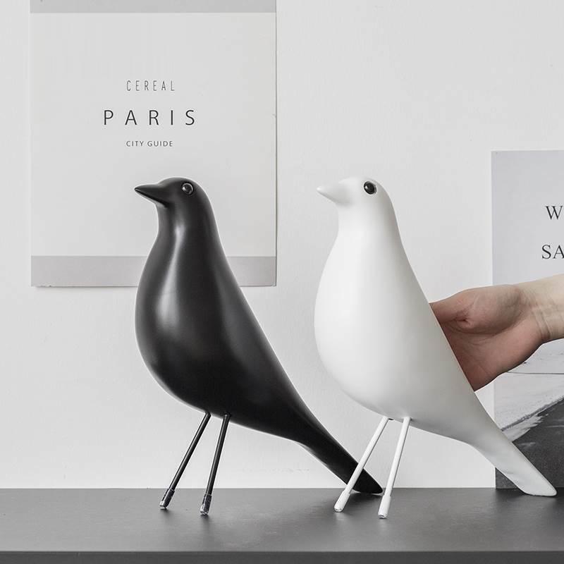 Resin Craft Bird Figurine Statue Office Ornaments Sculpture Decoration Acce