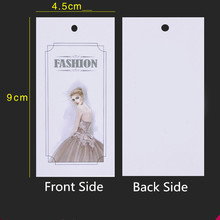 Spot ladies tags price tag on coated paper card general fashion beauty 500 package mail