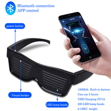 Display The Bluetooth Glasses With Charged Magic-Transformed DIY LED