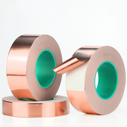 1Pc 5~100mmx25M/50M Double Sided Conduct Copper Foil Tape Mask Electromagnetic Shielding Double Side Conductive Copper Foil Tape