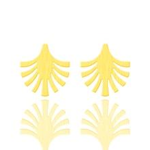 Vintage Jewelry Tree Earrings For Women Girls Stainless Steel Simple Leaf Stud Earring Summer Holiday Oorbellen Voor Vrouwen BFF